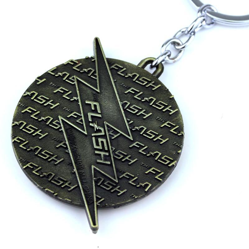Avengers 4 Infinity War The Flash Gordon Lightning Key Chain Red Gold Keychain Keyring Gift Key Ring Holder For Car Souvenirs