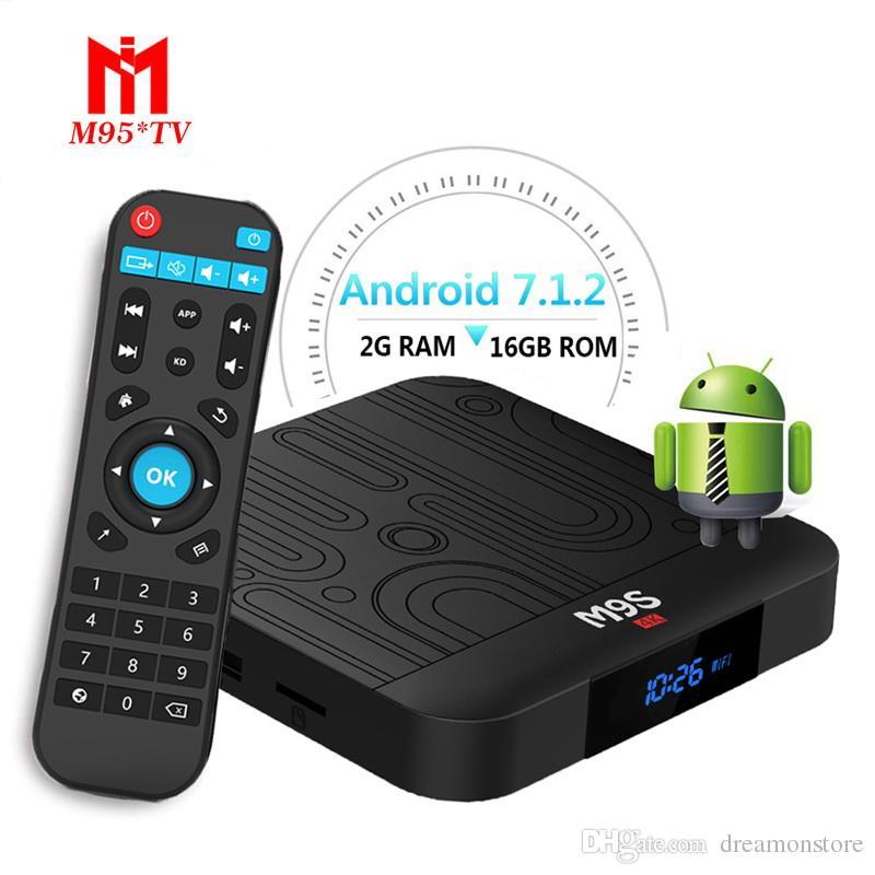 New Amlogic S905W M9S W1 2GB 16GB Android 7 1 TV BOX Quad Core 4K WiFi  Smart Boxes Streaming Media Player Better X96 MAX H96 MAX PLUS AX7