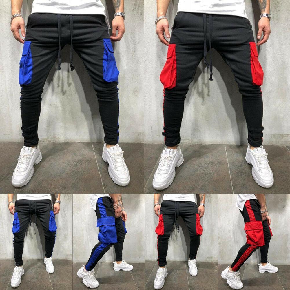 6364bec1d0 Compre Pantalones 2019 Nueva Marca Moda Hombres Slim Fit Bolsillos  Pantalones De Pierna Recta Urbana Pantalones De Lápiz De Hip Hop  Ocasionales A  25.25 Del ...