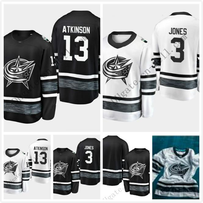 lowest price 03e75 42524 Cheap 2019 All Star Game 13 Cam Atkinson 3 Seth Jones Mens Columbus Blue  Jackets Blank White Black Hockey Jersey All -Star Patch