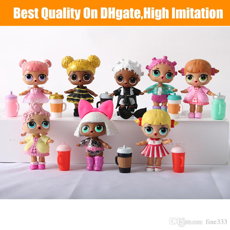 Doll 10CM Ball Doll Toys Free Shipping DIY Wear clothes Bottle Girl Doll Baby Change with Glasses Action Figure Toys Kids Gift