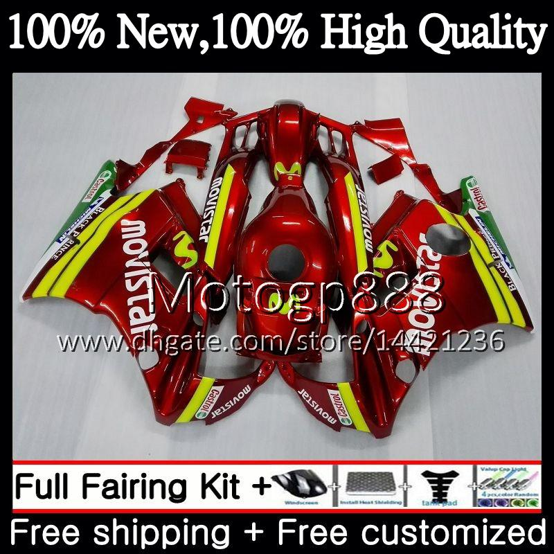 Body For HONDA CBR 600F2 FS CBR600 F2 91 92 93 94 46PG19 CBR600FS CBR 600 F2 CBR600F2 1991 1992 1993 1994 Fairing Bodywork Movistar red