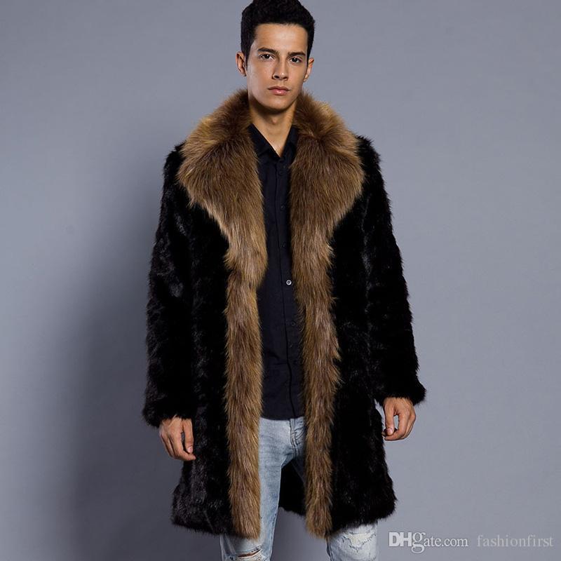 a92d3fc360c8d 2019 European American Men Fashion Imitation Fur Coat Artificial Fur Coat  Mens Warm Long Sleeve Coat Autumn Winter From Fashionfirst, $59.9 |  DHgate.Com