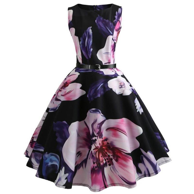 2019 Casual Summer Girls Dresses For Kid Floral Parting Princess Dress For Party Beach Dress Children Clothing For Teens 11-20 Y MX190724
