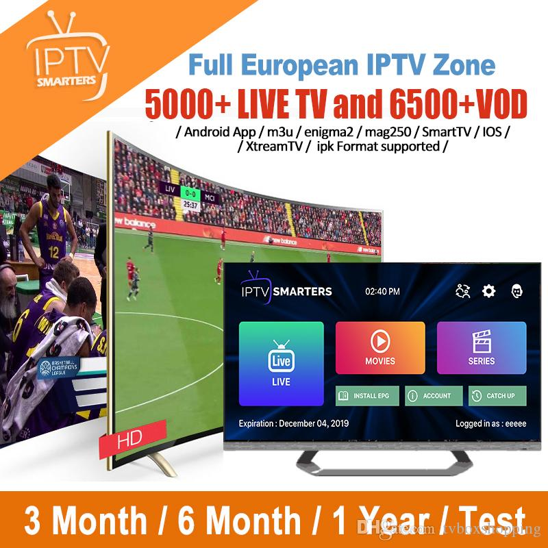 Best IPTV Subscription With 5000 Live For France Italy H96 Max Plus Android  8 1 4GB 64GB TV Box Support Smart TV MAG Box M3u