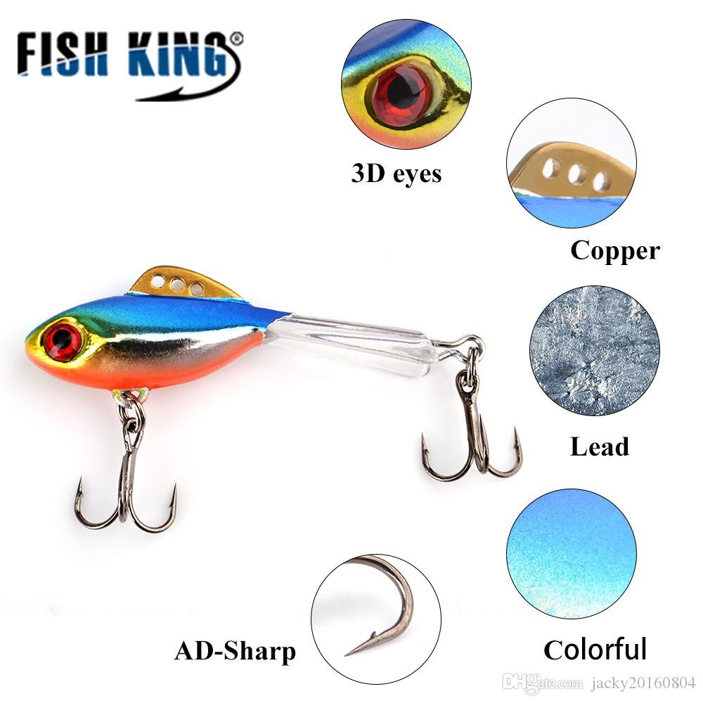 PESCE KING 1PC Ice Fishing Lures Esca invernale Balestra con esche artificiali per esche da pesca Lead Jigging