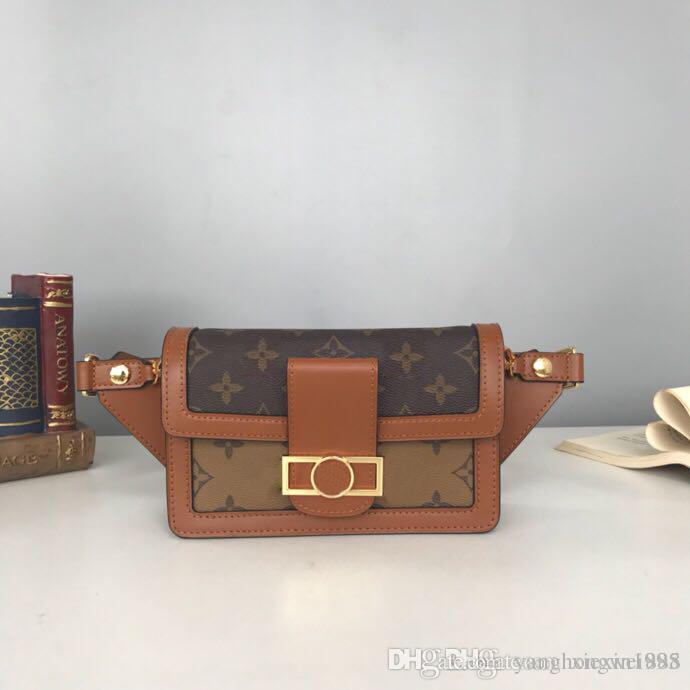 DAUPHINE M44586 Bumbags Monogrram Canvas Cross Body bags leather Waist pack Chain wallets compact purse clutches evening key card holders