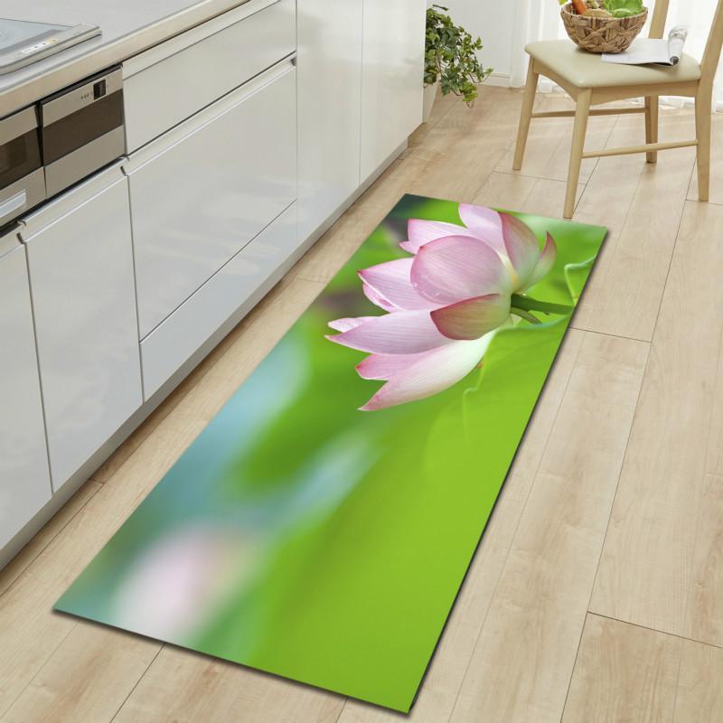Floral Küche Teppiche Lotus Badematte 3D Sofa Kleiderschrank Schuhablage  Streifen Bodenmatte Kann Maschine Waschen Teppich Badezimmer Schlafzimmer  ...