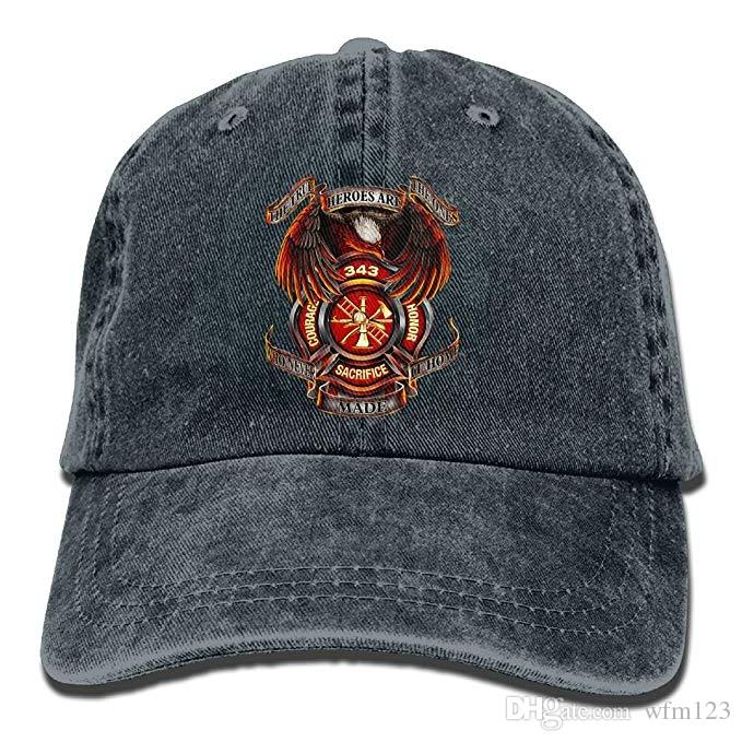807a81ac152 2019 New Designer Baseball Caps Mens Cotton Washed Twill Baseball Cap 343  Firefighters Memorials 9 11 Never Forget Hat Kids Hats Ball Caps From  Wfm123