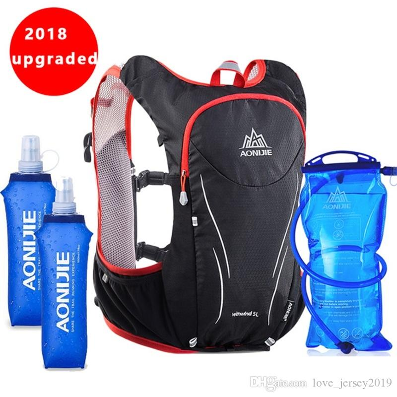 30f3e8d4f6 2019 AONIJIE 5L Outdoor Sports Backpack Women Men Marathon Hydration Vest  Pack For Exchange Cycling Hiking Running Water Bag #86352 From  Love_jersey2019, ...