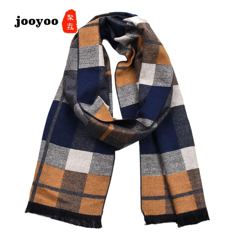 2c165452fa2f7 New Men's Cashmere Plaid Scarf Thick Double-sided Fashion Wild Warm Shawl  Men jooyoo