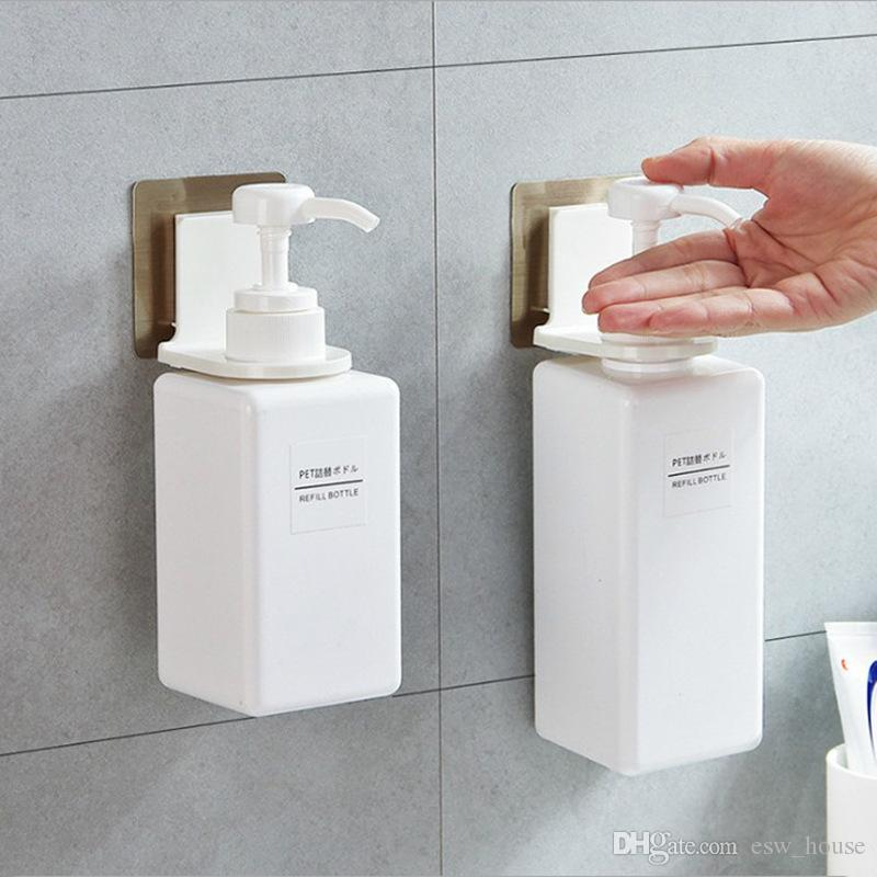 aea5187f748 2019 Bathroom Sticky Hook No Trace Powerful Suction Cup Shampoo Shower Gel  Sanitizer Suction Wall Sticker Shower Bottle Rack From Esw house