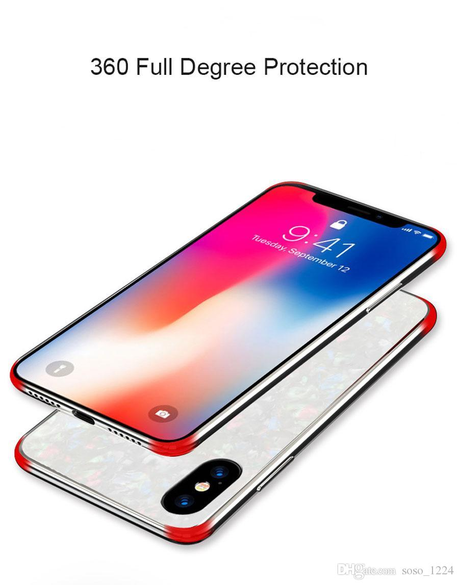 Custodia rigida in vetro temperato per custodia in marmo per Apple i Phone 10 Cover per iPhone 8 Plus 7 Custodia 10 X Custodia antiurto
