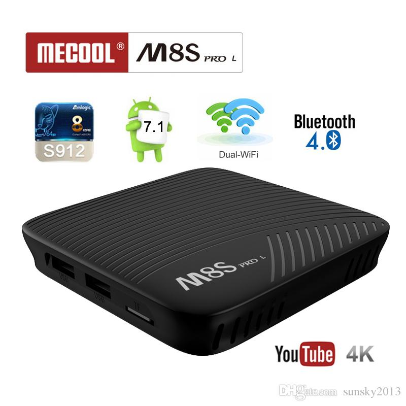 Mecool M8S Pro L Android 7.1 TV Box 3GB RAM 32GB ROM Amlogic S912 Octa Core 2.4/5G AC Wifi Bluetooth Streaming 4K Media Player Smart Mini PC