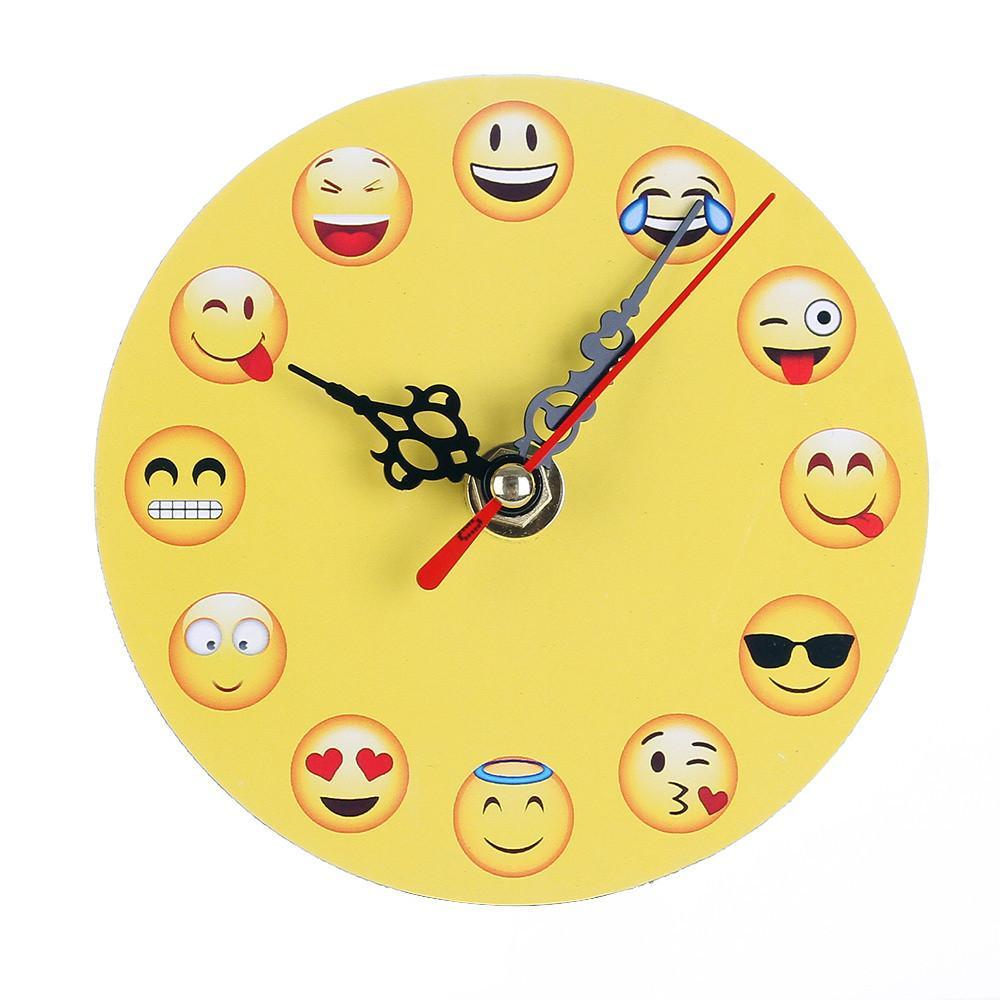 Excellent Yellow Wooden Desk Clocks Digital Decorative Emoji Table Clock Creative Living Room Bedroom Decorative Cartoon Wall Clock Wholesale Download Free Architecture Designs Scobabritishbridgeorg