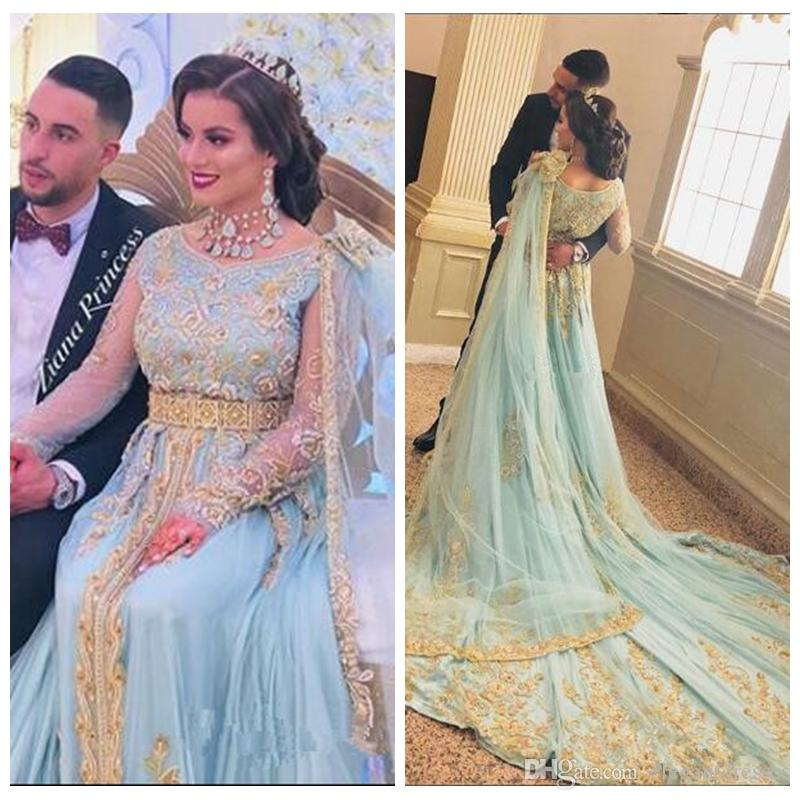 2019 Sleeveless A-Line Prom Dresses India With Gold Embroidery Beaded Special Occasion Party Gowns Custom Evening Party Gowns Robe De Soiree