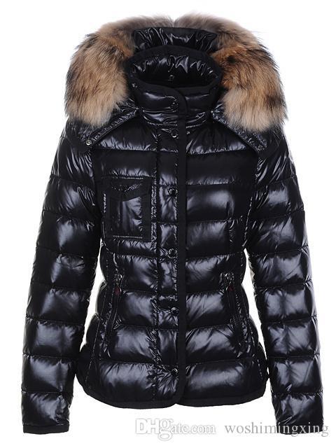 no sale tax b7c2b 59e2c Frauen Winter Warme Daunenjacke Mit Pelzkragen Feder Kleid Jacken Damen  Outdoor Daunenmantel Frau Mode Jacke Parkas