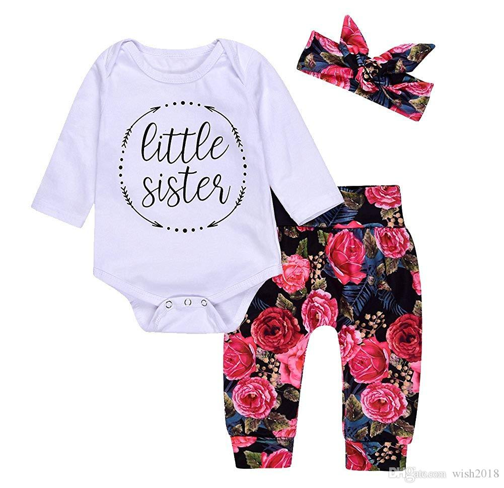 4f78b619fd46 3Pcs Infant Newborn Baby Girls Hello World Romper Tops+Pants Clothes Outfit  Sets