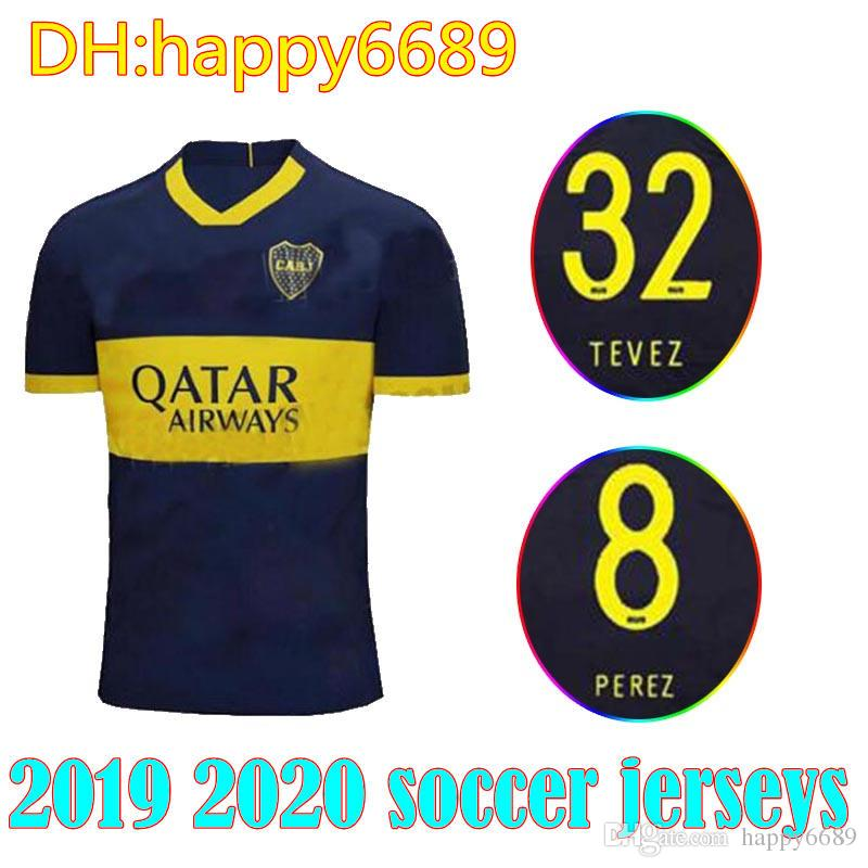 timeless design e317d 82658 Boca Juniors soccer Jersey 19/20 men set Home blue Away white CARDONA Pavon  Benedetto TEVEZ PEREZ 2019 2020 shirt GAGO adult kit Football