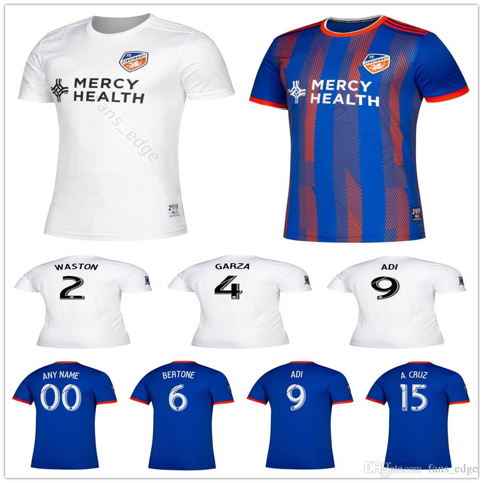 best service 79f95 f95ac 2019 2020 MLS FC Cincinnati Soccer Jerseys GARZA WASTON 6 BERTONE 9 ADI 15  A.CRUZ Custom 19 20 Home Away Football Shirt