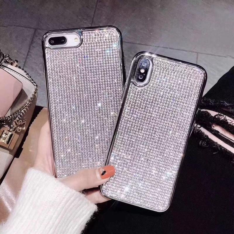 Hybrid 3D Glitter Armor Case for iPhone 8 Plus X X XS Max XR Ten Dynamic Quicksand Shockproof Phone Cases Covers