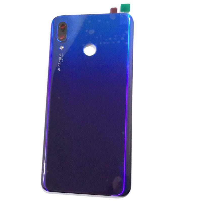 For Huawei Nova 3 Battery cover back rear door housing For A2lite back  frame glass with camera lens Nova3