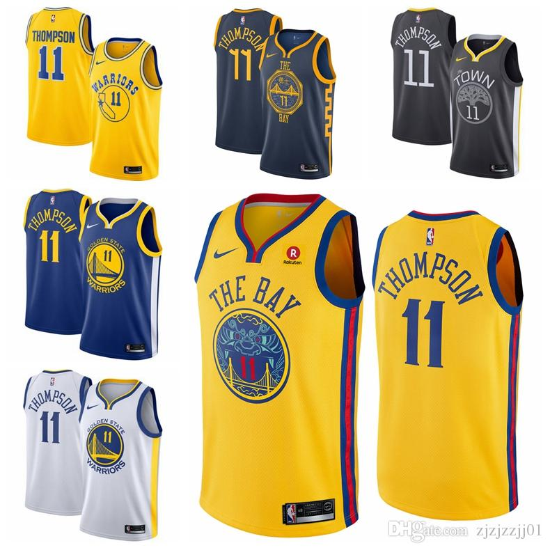 brand new a2150 6ce30 2019 30 Stephen Currys Warriors Jersey The City Golden States 35 Durants  Thompson 11 Basketball Jersey NEW
