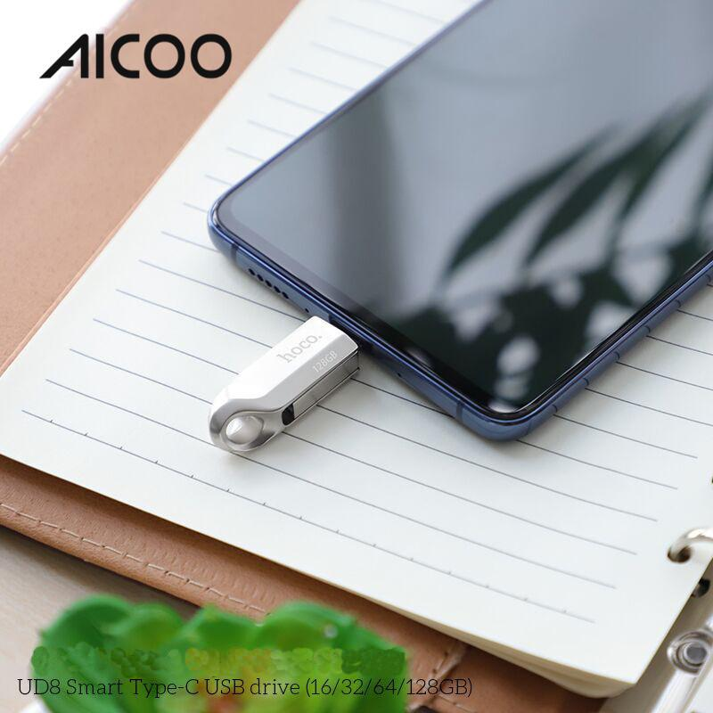 AICOO UD8 Smart Type-C USB Drive 16/32/64/128G Multi-function 2 in 1 Portable USB Flash Drive Retail Package