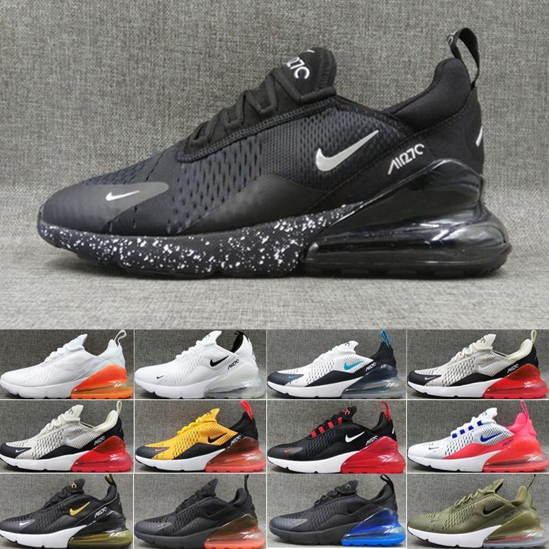 nike air max 270 27c airmax OG Cojín y amortiguador de goma zapatillas deportivas originales Malla OG transpirable zapatos deportivos de amortiguación