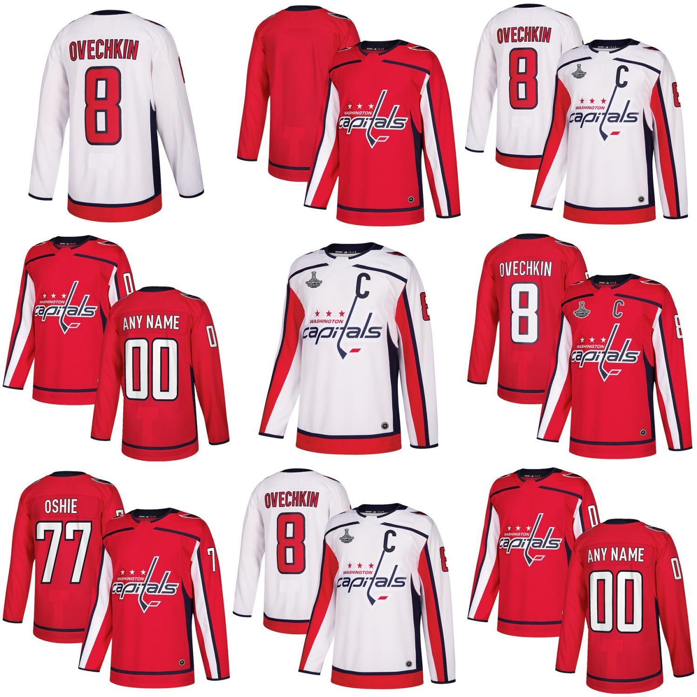 ef527128800 2019 Mens Womens Kids Youth Custom Blank Washington Capitals 70 Braden  Holtby 8 Alex Ovechkin 19 Nicklas Backstrom 77 T.J. Oshie Hockey Jerseys  From ...