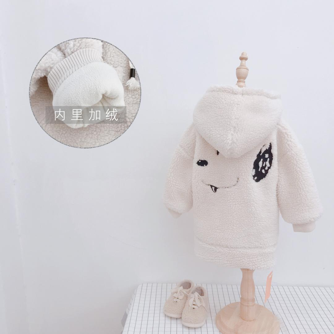687258024 Baby Girls Winter New Soft Lovely Cartoon Dog Embroidery Hooded Coat ...