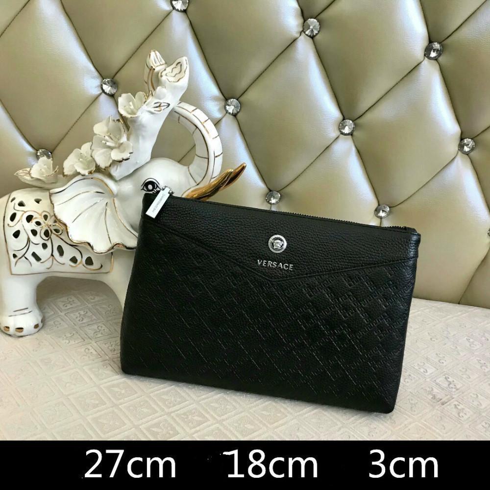 6a759d24b1 Acquista Modello Uomo Borsa A Mano Nera In Pelle Con Pochette Da Sera A  $72.47 Dal Belts_store | DHgate.Com