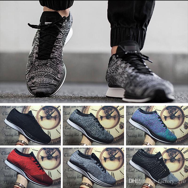 7f6ecb72 Compre Nike Flyknit Racer Be True New Racer Trainers Zapatillas De Running  Para Hombre Triple Rojo Blanco Negro Racer 2.0 Ultra Mujeres Senderismo ...
