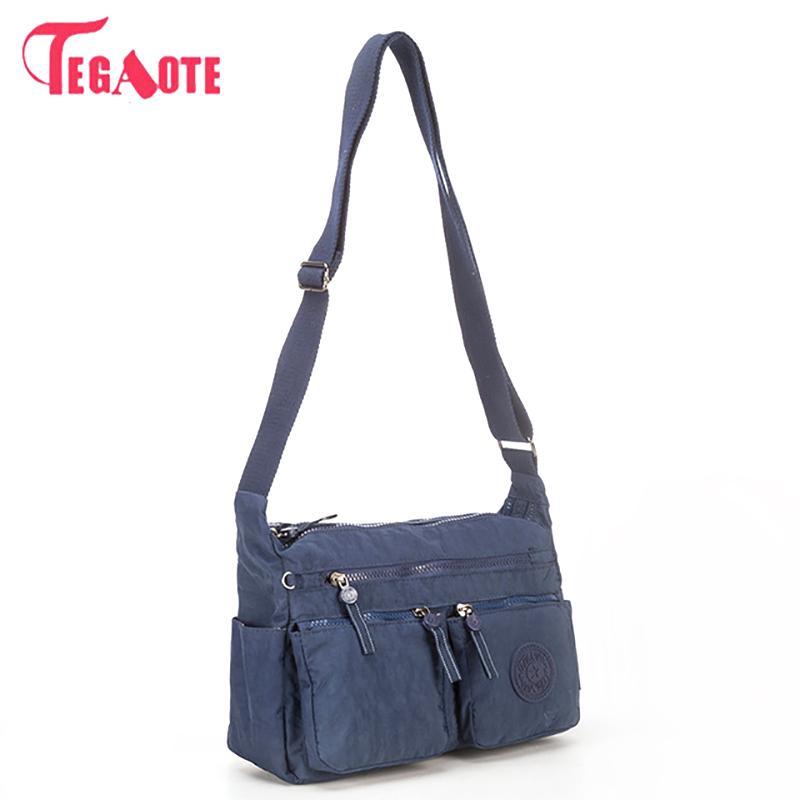 TEGAOTE Luxury Women Messenger Bag Nylon Kipled Shoulder Bag Ladies Bolsa  Feminina Waterproof Travel Bag Women s Crossbody Nylon Shoulder Bag Bag  Ladies ... 5910a14e17