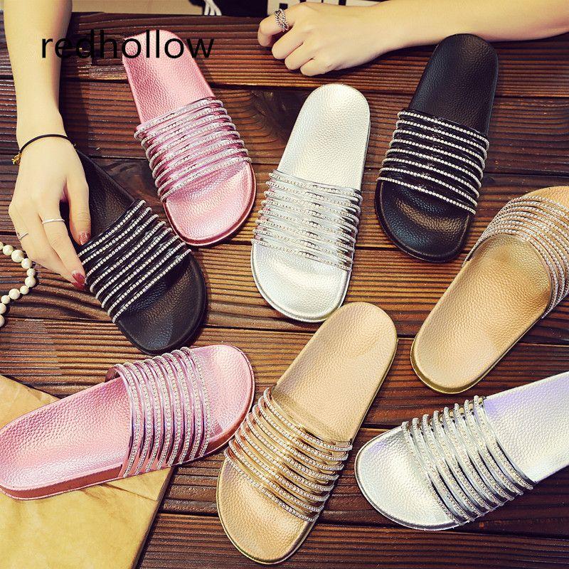a6250a31efe4 2019 Fashion Women Slippers Flip Flops Platform Sandals Bling Slippers Flat  Summer Beach Comfort Flat Shoes For Women High Heel Boots Pumps Shoes From  ...