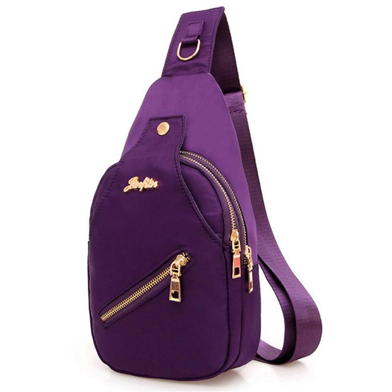 caa770b381e3 2018 New Women Chest Bags Casual Crossbody Messenger Bags For Women Ladies  Nylon Waterproof Small Cross Body Sling Shoulder Bags Best Messenger Bags  ...