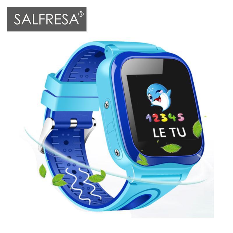 ab4fce335 Luxury Watches SALFRESA Reloj Inteligente Para Niños V88 IP67 Impermeable  450 MAH Largo En Espera Seguridad De Seguimiento De Niños SOS Pulsera  Inteligente ...
