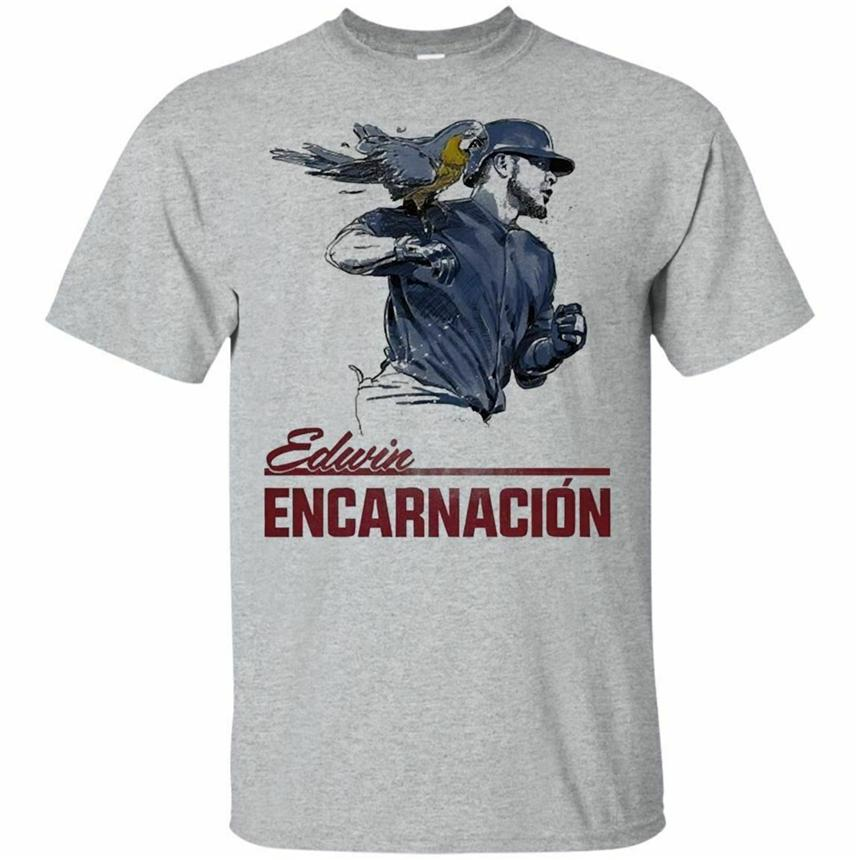 Edwin Encarnacion T-Shirt Parrot Power Men'S Tee Shirt Short Sleeve S-5Xl New Funnytee Shirt