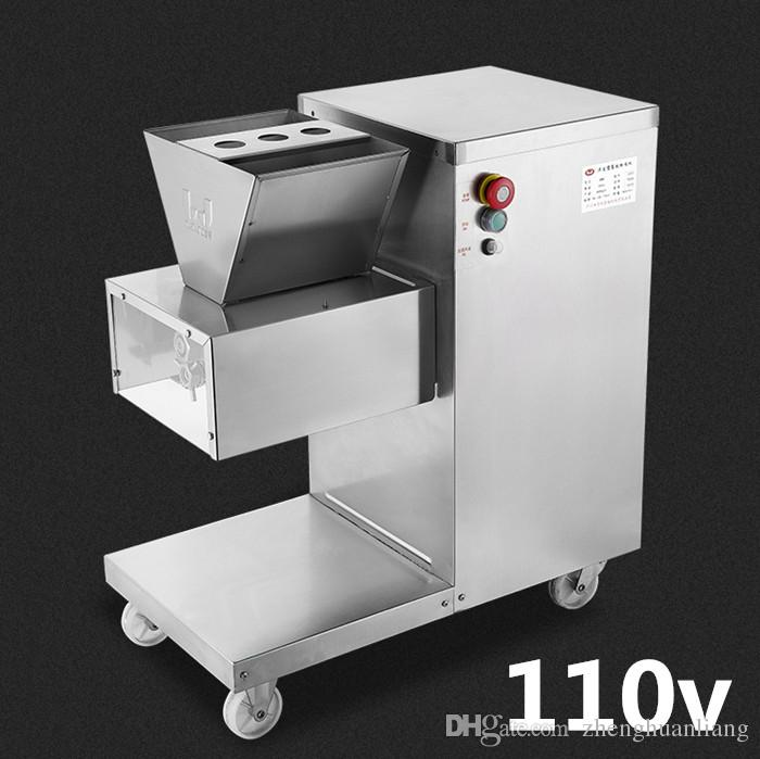 Wholesale - Free shipping 550w 110v QW meat cutting machine,meat slicer,meat cutter,800kg/hr meat processing machinery