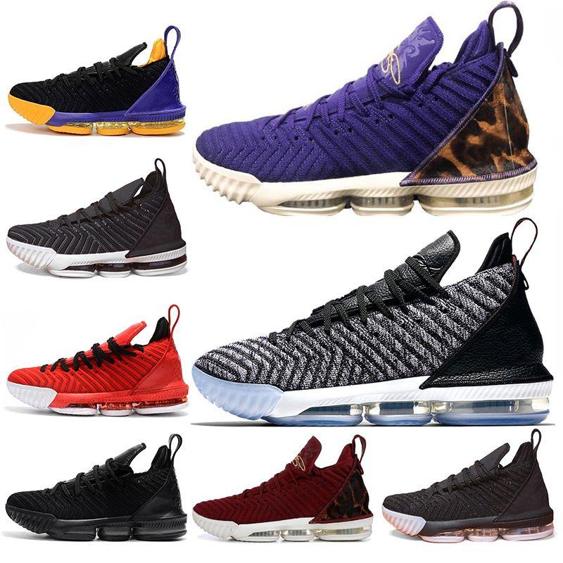 012c7090d3aa Classic 16s Men Basketball Shoes 16 King Court Purple Oreo FRESH BRED  Triple Black Grey Mens Trainers Sports Sneaker Shoes Size 7 12 Shaq Shoes Kd  ...