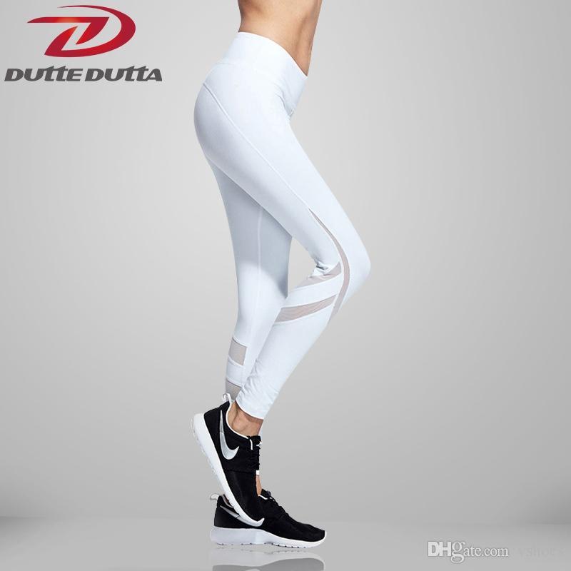 41e0f71042 Compre DutteDutta 2017 Pantalones De Yoga De Remiendo De Malla De  Compresión Fitness Leggings Deportivos Para Mujer Medias Para Correr  Leggings Gimnasio ...