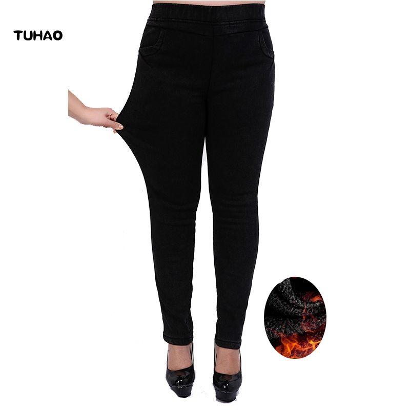 f7dddd5c09781 2019 TUHAO Plus Size 7XL 6XL 5XL Pants High Waist Femme Jeans 2018 ...
