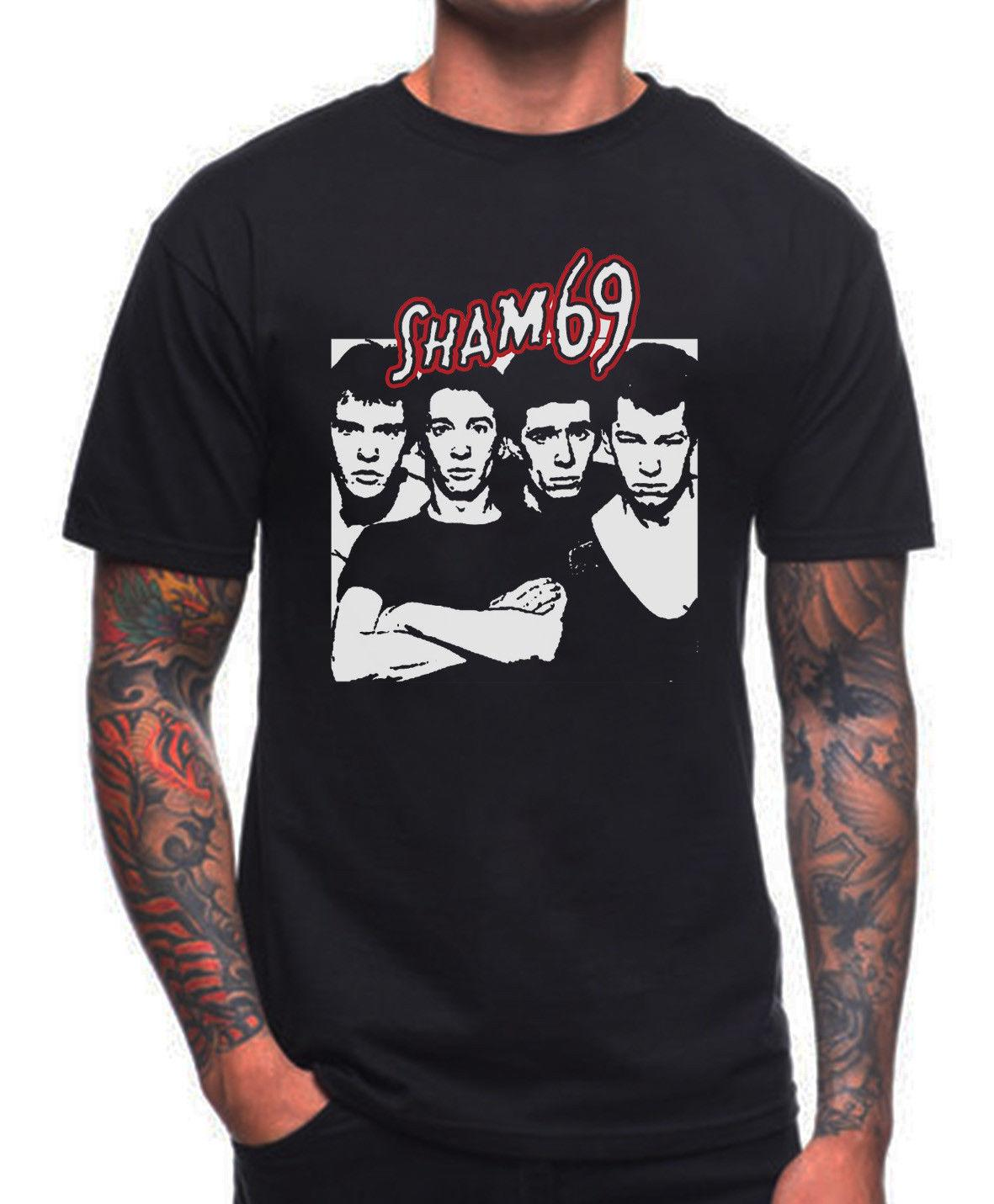 SHAM 69 T SHIRT ENGLISH PUNK ROCK Print T-Shirts Original Sleeve Shirts Fashion Top Tee