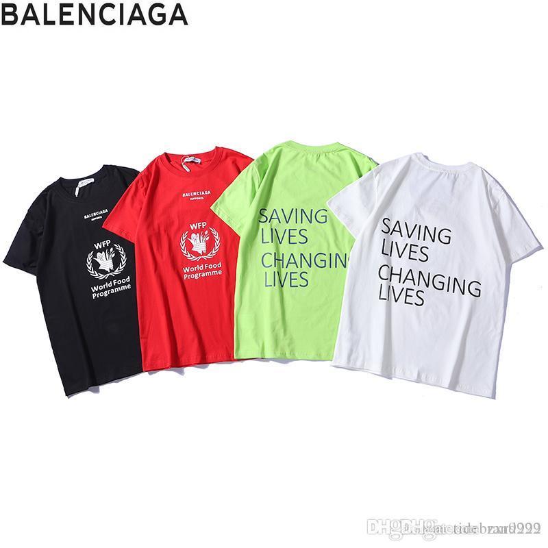 9dc8a188ee69 Balenciaga Hot Multi-color Optional Cotton Breathable Round Neck ...