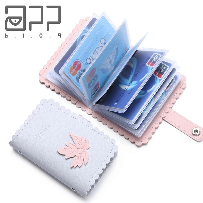 762e9719660 APP BLOG Elegant Leave Function 24 Bits Card Case Business Card Holder  Women Credit Passport ID Passport Cover Bag Wallet Flat Wallet Awesome  Wallets From ...
