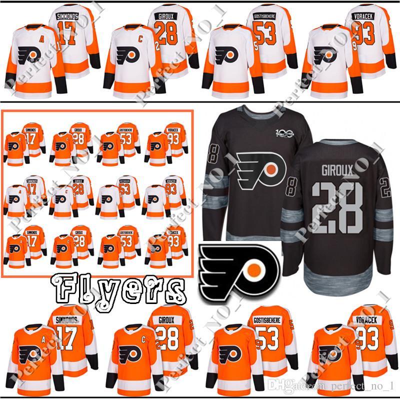 2019 Philadelphia Flyers Jersey 17 Wayne Simmonds 28 Claude Giroux 2018 New  Hockey Jerseys 53 Shayne Gostisbehere 93 Jakub Voracek From Perfect no 1 b8112a95bab