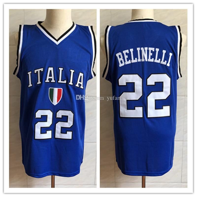 2019  22 Marco Belinelli Italia Italy National Team Retro Classic Basketball  Jersey Mens Stitched Custom Number And Name Jerseys From Yufan5 e3aa74172