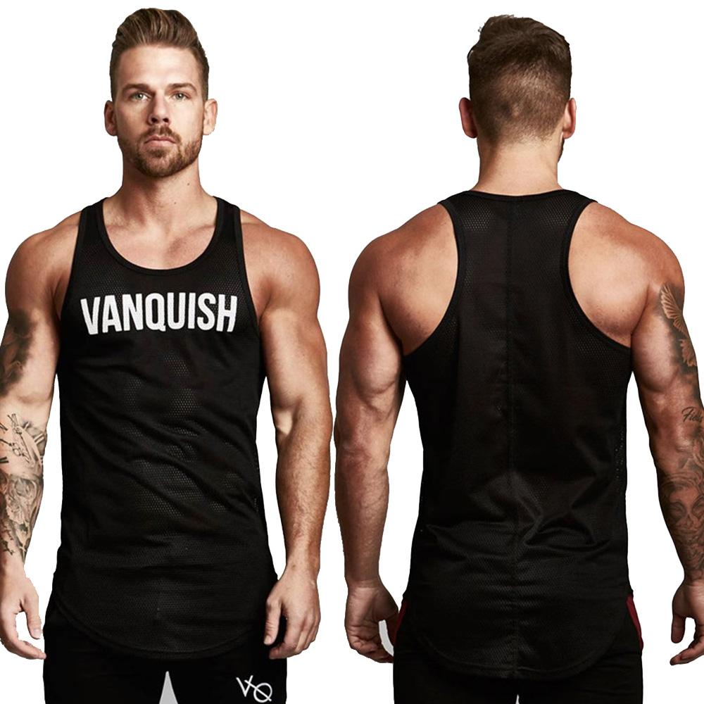 2019New Mens Sleeveless Vest Summer Print Cotton Male Tank Tops Clothing Bodybuilding Undershirt Golds Fitness tank top