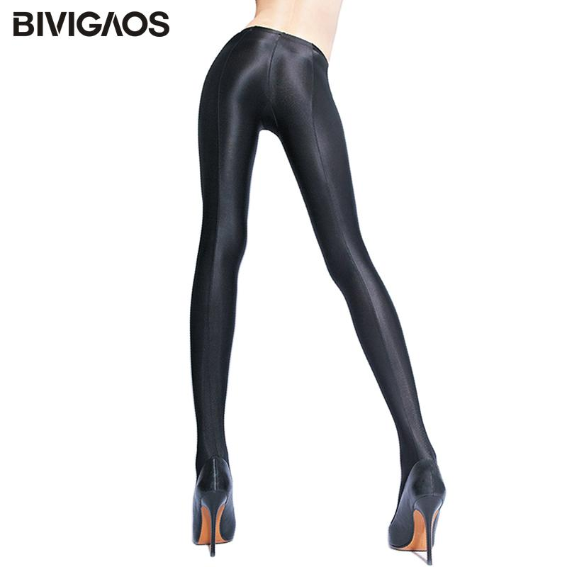 49849fa728f90 2019 BIVIGAOS Womens Shiny Black Leggings Gloss Pants Shaping Workout Leggings  Chinlon Elastic Sexy Legging Pantyhoses For Women From Cfendou, ...