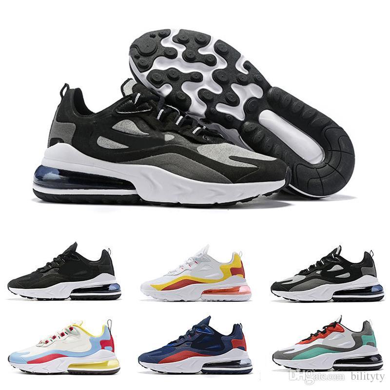 Nike air max 270 react shoes 2019 reaccionan los hombres corriendo zapatos Bauhaus Optical para hombre entrenadores deportes respirables zapatillas de